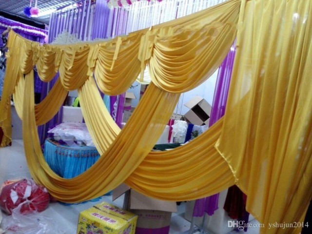 3*6m Wedding Decoration Backdrop With Swags Wedding&Banquet ...