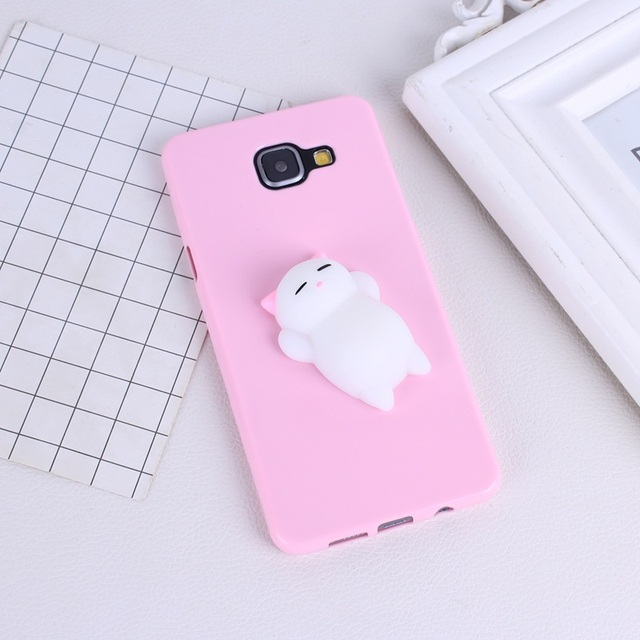 sale retailer 3bc4a 32125 US $1.21 24% OFF|Squishy Phone Case For Samsung Galaxy A5 2016 Cases 3D  Toys Soft Silicone Panda Pappy Sea Cover Cases For Samsung J5 2016 Coque-in  ...