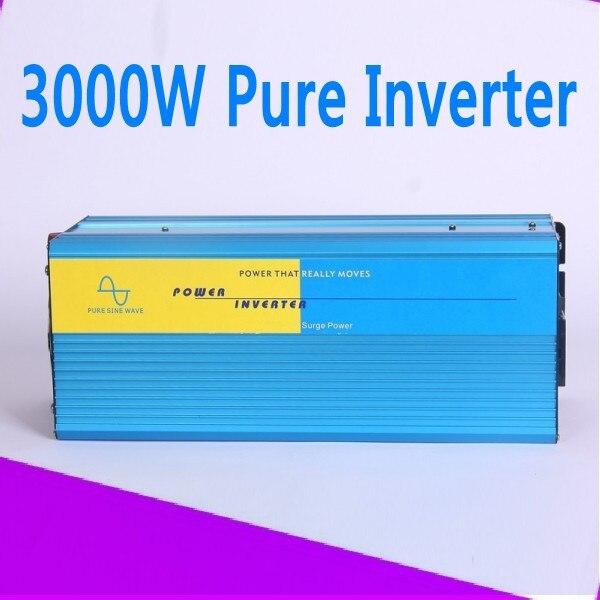 цена на Free Shipping 3000w purus sine wave inverter Pure Sine Wave DC 12V to AC 220V Solar/Wind/Car/Gas Power Generation Converter