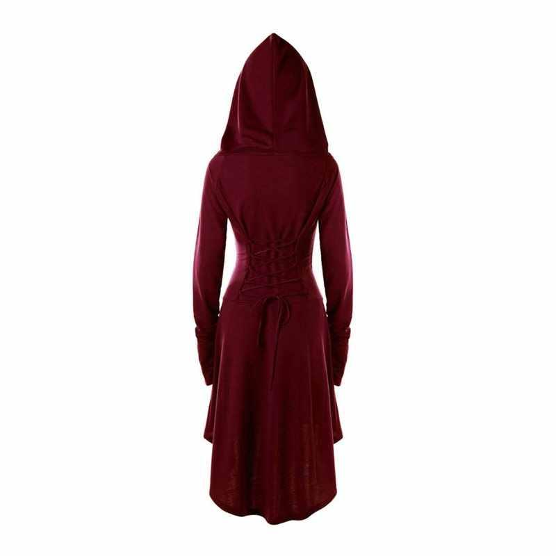 Verano Casual gótico de talla grande Punk negro mujeres Midi Hoodie vestidos gris con capucha encaje hasta 5XL Chic Goth mujer 90s vestido de moda