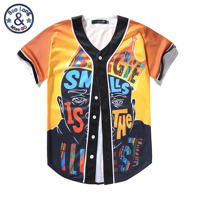 3dbd9da5972e0 Mr.BaoLong New Summer Notorious B.I.G T-Shirt America Hiphop Rock T Shirt  Rapper