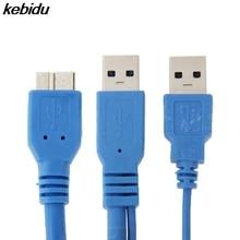 Kebidu 50 Cm Dual USB 3.0 A Để Micro B USB 3.0 Chữ Y Dây Cáp Dành Cho Samsung Galaxy Note 3 III N9000 Cho HDD Ốp Lưng Máy Tính Cáp Kết Nối