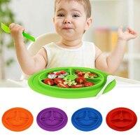 Placa bebé alimentos grado silicona aperitivos frutero dulces antideslizante resistente al calor alimentos plato Vajilla para niños Alimentación
