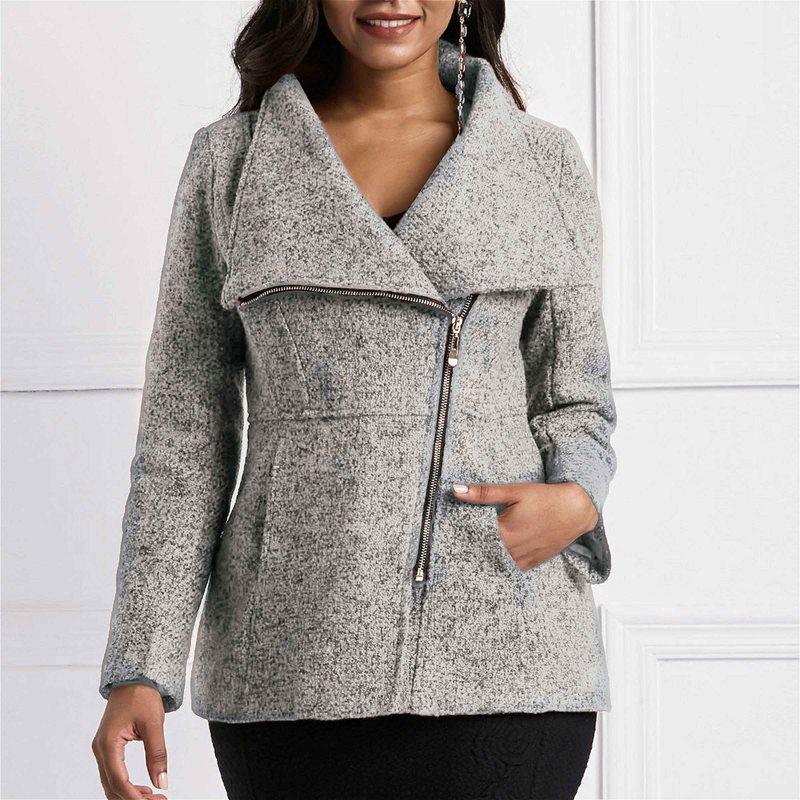 Jackets Women Coats Pocket-Autumn Female Slim High-Street Winter Ladies African Wool