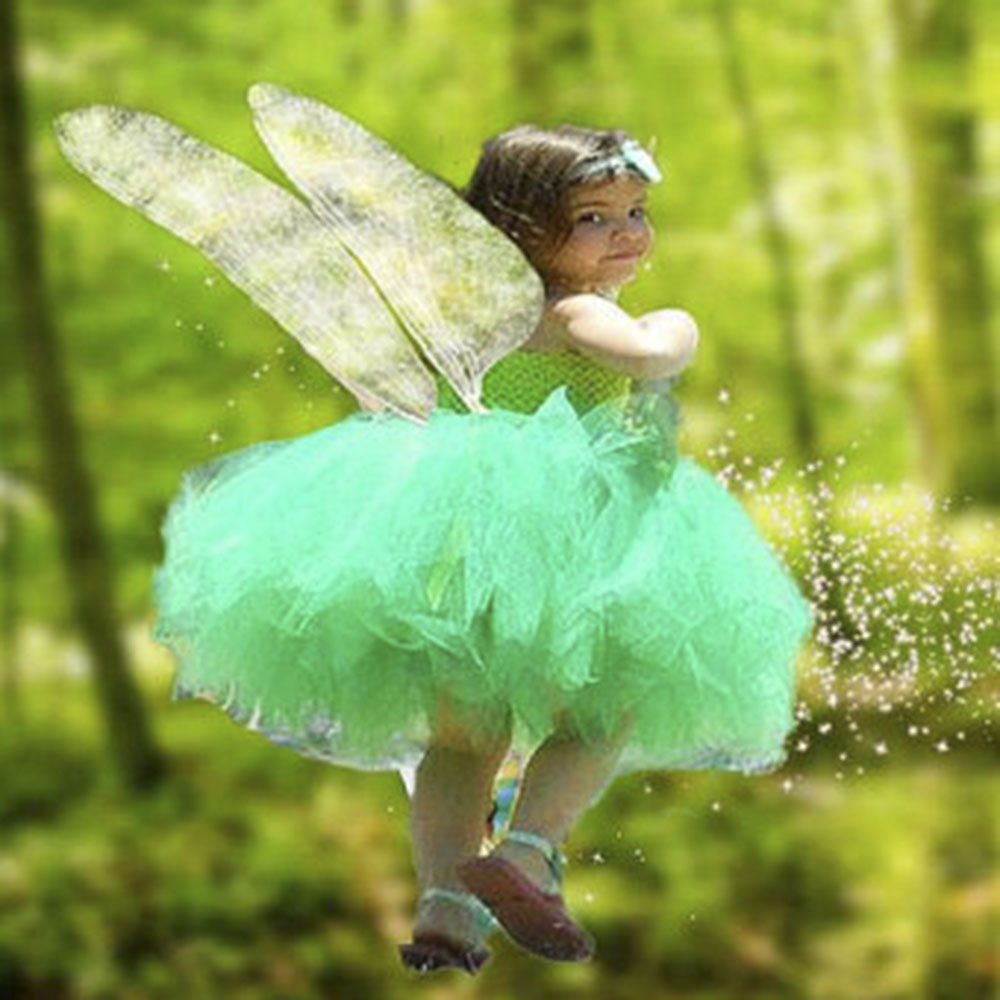 Vocole Halloween Girl\'s Green Fairy Tale Tinkerbell Costume Children ...