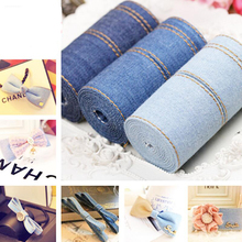 1cm 2.5cm,4cm 10meters Bilateral Strip Denim DIY Handmade Bow Hair Accessories Clothing Lace Trim Ribbons Sewing