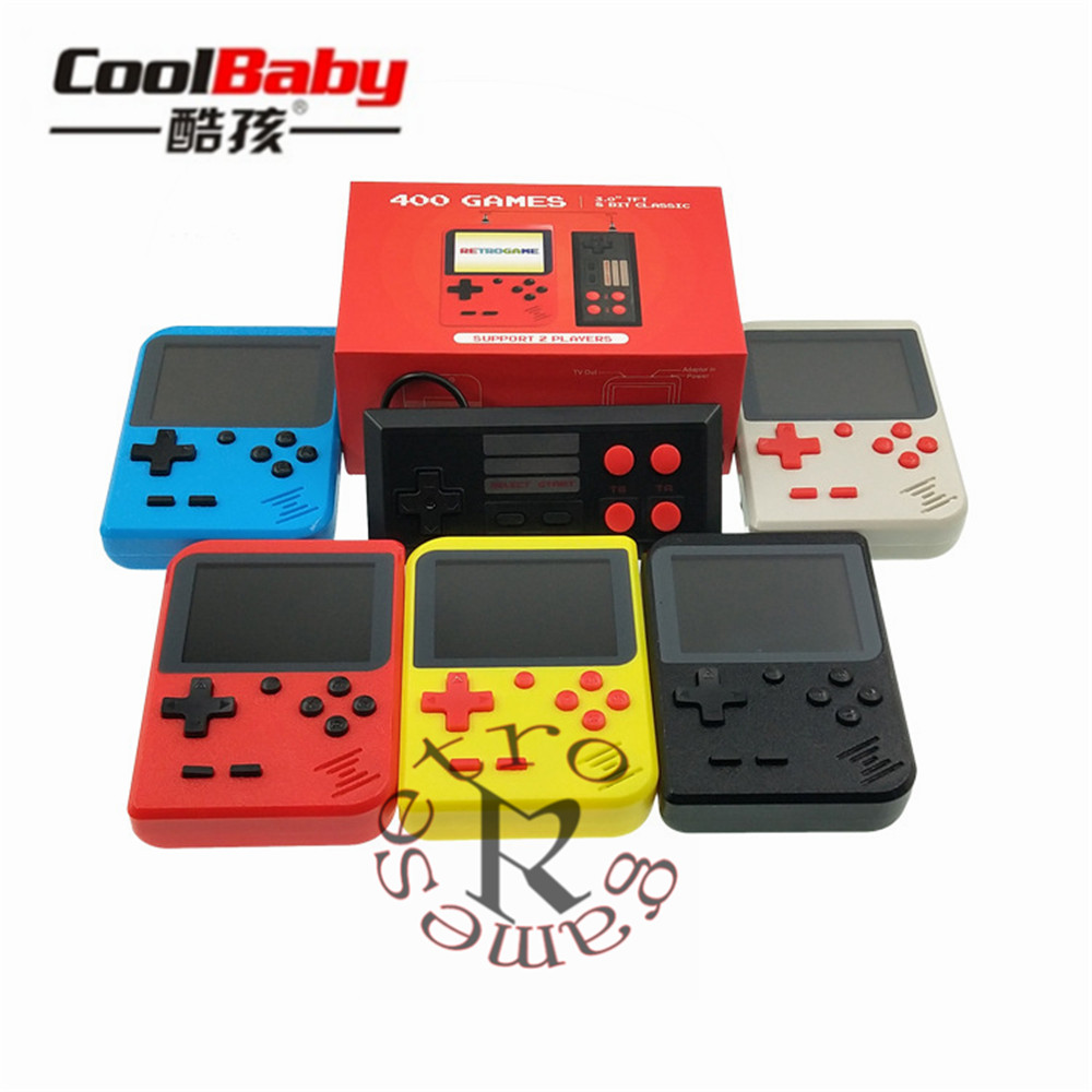 Retro games 3.0inch 8bit Built-in 400 classic Games Support AV support 2 players Portable Game Consoles
