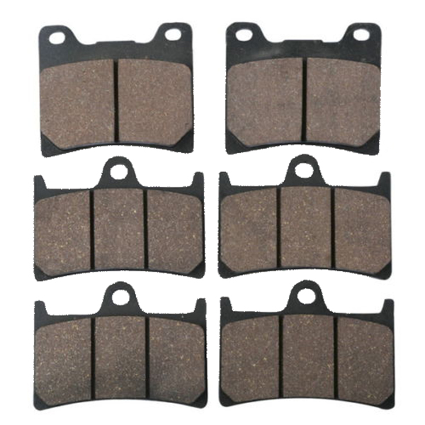 Motorcycle Semi-Metallic Sintered New Front Rear Disc Brake Pads For YAMAHA XJR 1300 XJR1300 SP 1999 - 2001 2000 motorcycle front and rear brake pads for yamaha xvs 1300 ctw ctx v star 1300 tourer 2007 2010 black brake disc pad