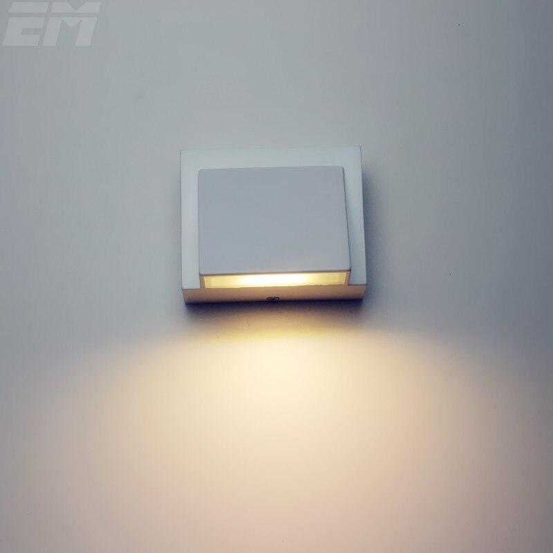 2pcs Per Lot Led Wall Light Outdoor Aluminum 100 80 65mm 3W 90 260V Bathroom Modern