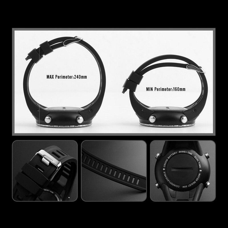 11f10761bc1a Relojes de hombre marca SKMEI reloj Digital LED para hombre reloj de pulsera  negro alarma 50