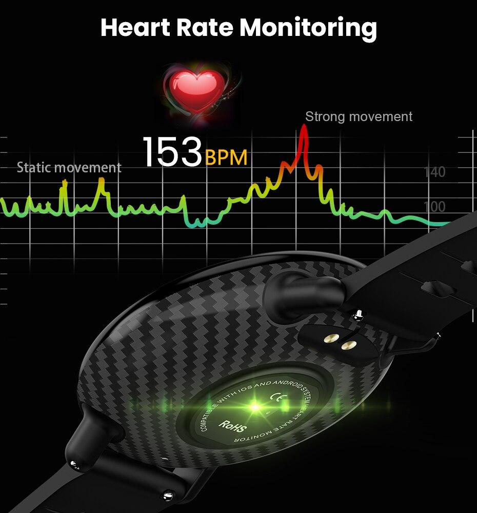 Virtoba A1 Bluetooth Smart Watch Men Women Full Touch Screen Activity Fitness Tracker Heart Rate Monitor 3D UI Smartwatch NEW 5