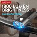 GACIRON V9D-1800 фара 1800 люменов велосипедный передний свет водонепроницаемый USB Перезаряжаемый 6700mAh Велосипедный свет аксессуары