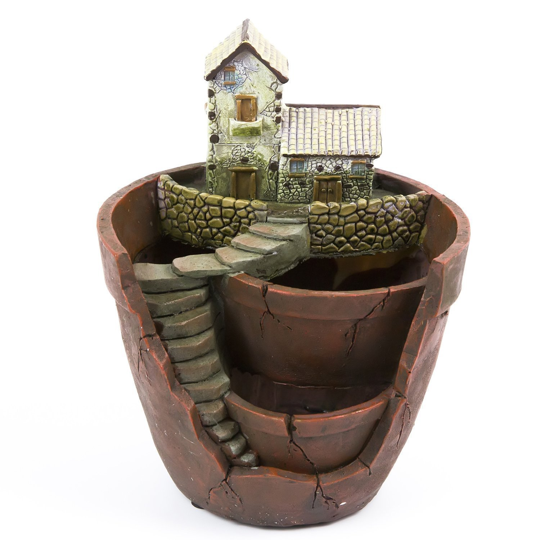 Plantes pot toprade mini taille creative fée jardin planteur jardin suspendu conception avec doux