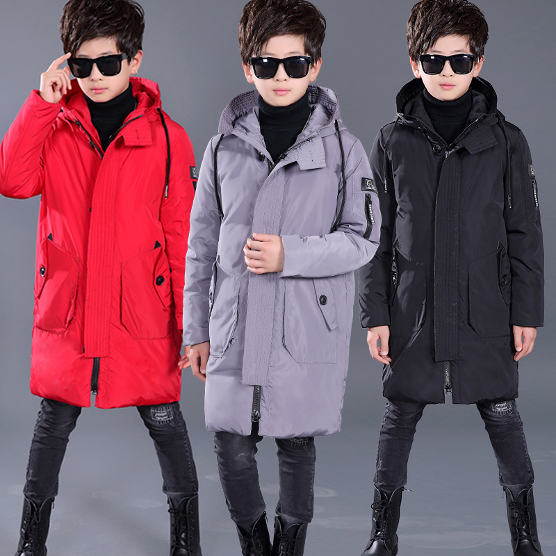 Winter Coat For Kids Boys Down Jackets Parkas Baby Children Clothing Warm Duck Down Feather Coats for Boys Outerwears with Cap