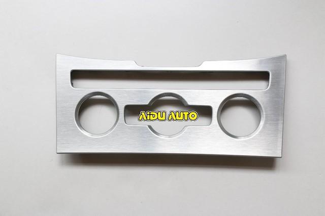 Oem 3ad863082a b7 passat b7 cc alumínio escovado do painel de controle de ar condicionado climatronic 3ad 863 082 um