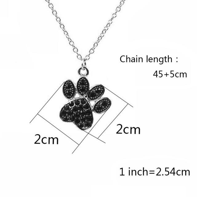 Femme Paw Footprint Pendant Necklaces