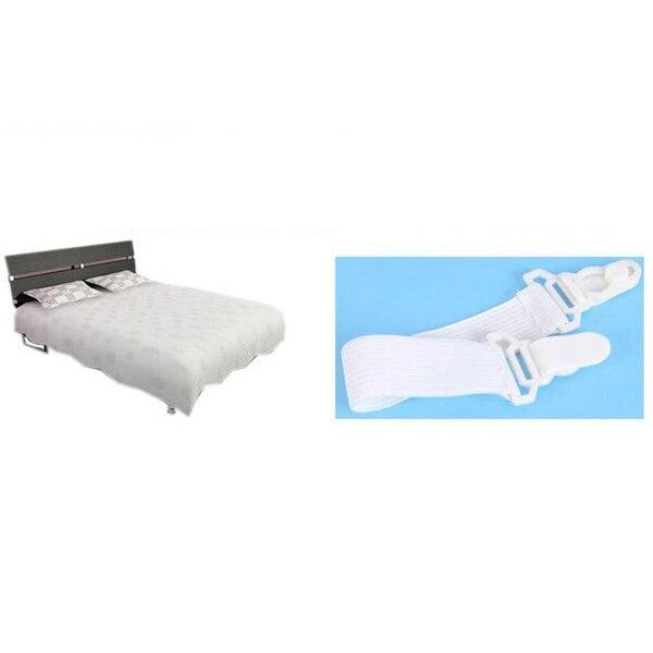 Bed Sheet Mattress Bedspread Holder Grippers Straps Suspenders Elastic Fasteners