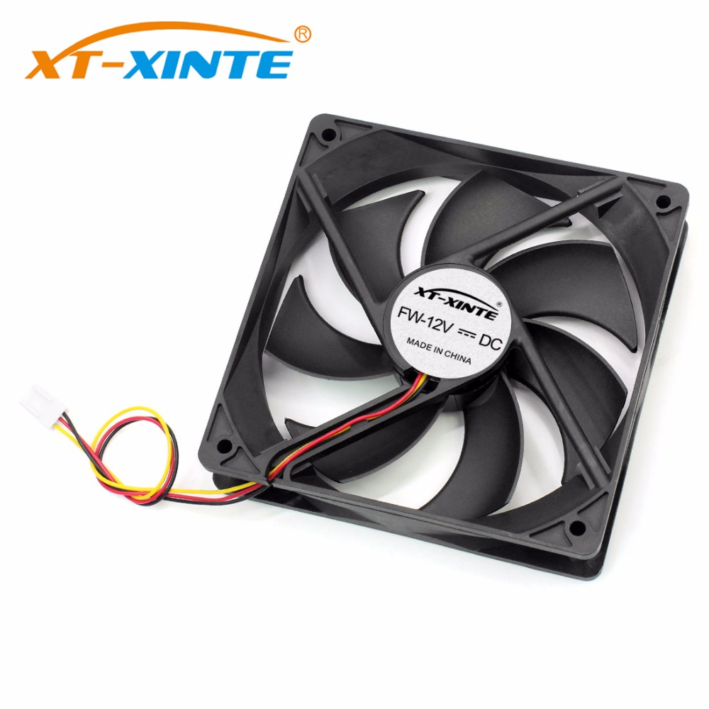 XT-XINTE 12cm Portable PC Computer Cooler 12V DC Brushless Cooling Fan 2.54P / 3P/ Large 4P Connector CPU Case Cooler Fan computer cooler radiator with heatsink heatpipe cooling fan for hd6970 hd6950 grahics card vga cooler