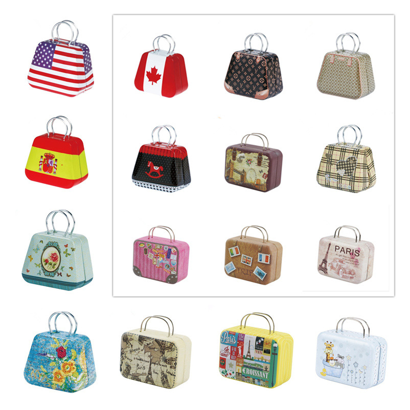 Fashion Metal Suitcase Tote Doll Play Set For Barbie Printing Luggage For Blythe Doll 1/6 BJD SD Fr Doll Accessories