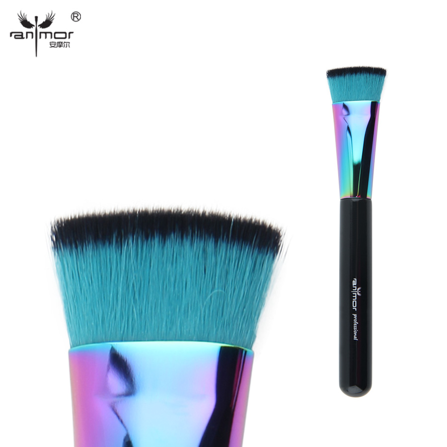 Anmor Colorful Flat Brush Professional Makeup Brushes For ...
