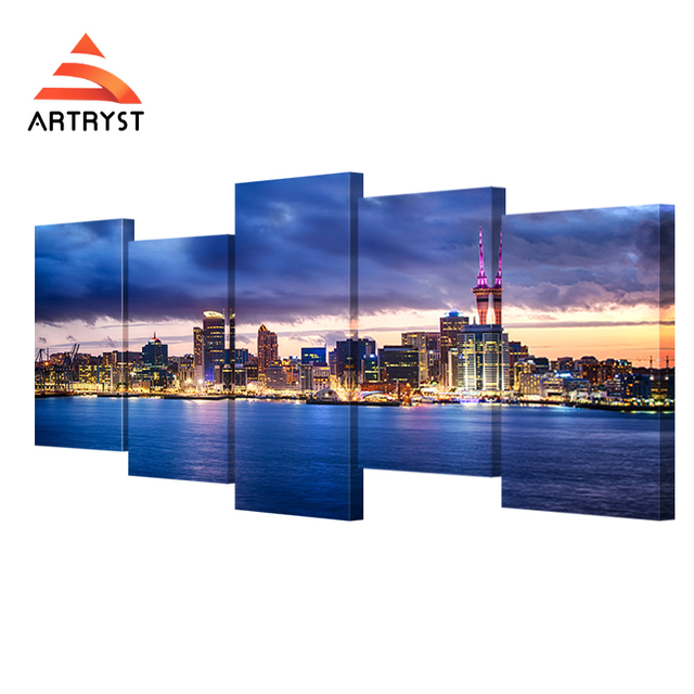Online Shop 5 Panel Modular New Zealand auckland bay night view
