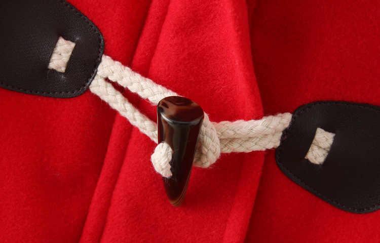 Nieuwe 2020 Lange Wollen Jas Turn Down Claxon Hooded Lange Wollen Vrouwen Jas College Wind Winter Winddicht Warme Jas vrouwen
