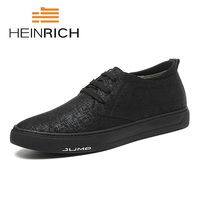 HEINRICH New Arrival Spring Summer Comfortable Casual Shoes Mens Canvas Shoes For Men Black Lace Up Flats Shoes Tenis Branco