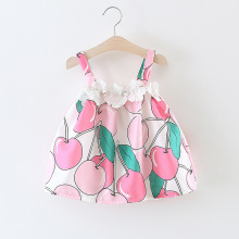 Girls Summer Beach Cherry Dresses for Children Princess Dress Baby Kids Summer Clothes Kids Dresses for Girls