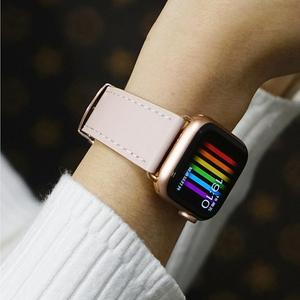 Image 5 - Ремешок итальянский для apple watch 5 band 44 мм 42 мм, натуральный кожаный браслет бабочка для iWatch Series 6 5 4 3 SE 40 мм 38 мм