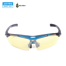 WOLFBIKE Polarized Sun Glasses Outdoor Sports Bicycle Glasses Sunglasses Racing Goggles Eyewear 5 Color Lens Sunglasses