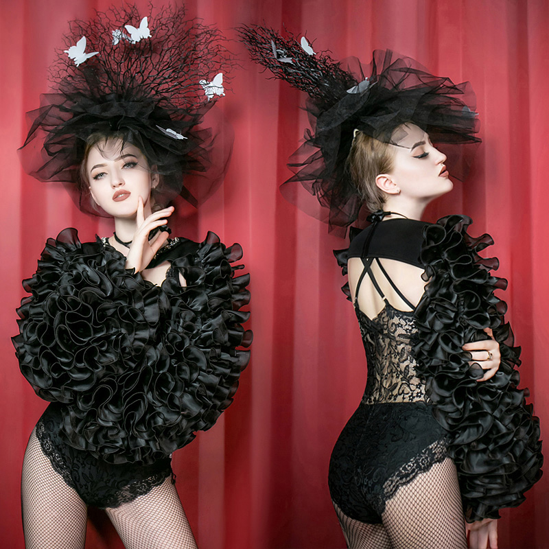 <font><b>sexy</b></font> lady new fashion nightclub <font><b>DS</b></font> <font><b>costumes</b></font> <font><b>singer</b></font> gogo lead dance lace bodysuit perfermance <font><b>stage</b></font> wear party image