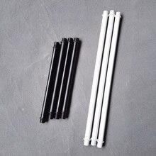 10 шт./лот, M10, двойная головка, белая/черная труба с наружной резьбой, пустотелая трубка, зубная трубка, покрытие из сплава, сделай сам, соединительная трубка для освещения