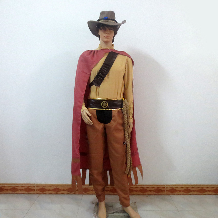 LOL Western Cowboy The Unforgiven Yasuo Cos Christmas Party Halloween Uniform Outfit Cosplay Costume Customize Any Size