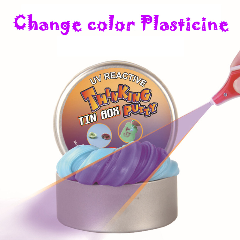Creative UV Discolor Hand Gum Silly Putty 5 Colors Light Clay Kids Slime Toys 2017 Hot Release Plasticine Children DIY Gifts mk 002 creative magnet plasticine toy super magnetic bouncing silly putty toy