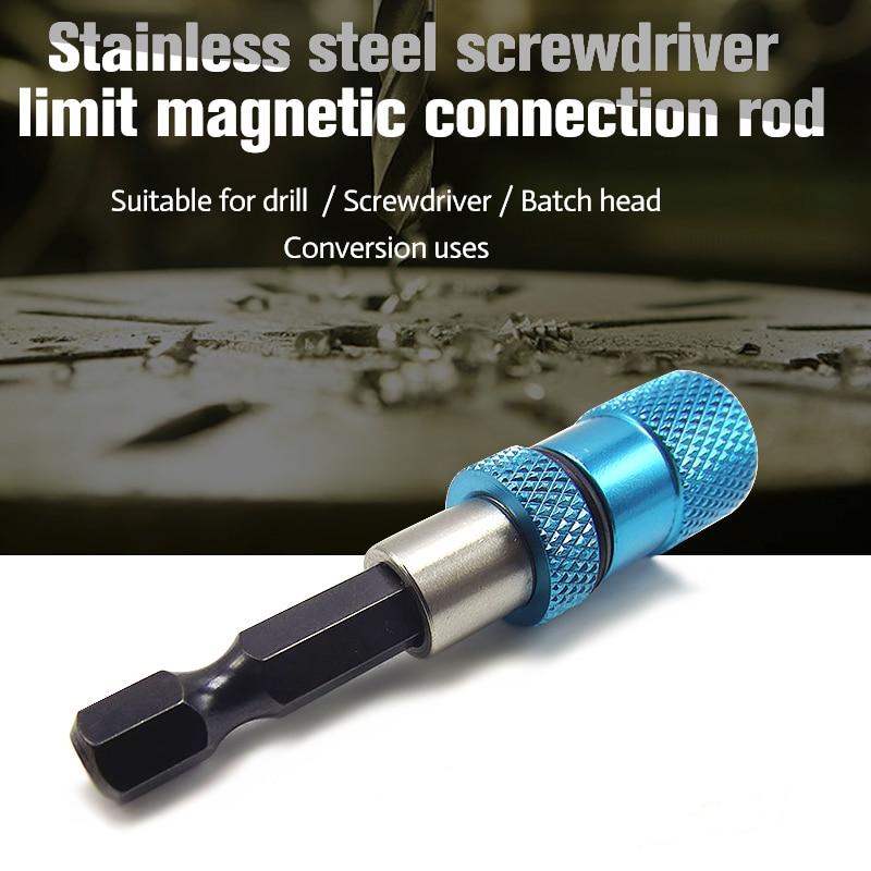 58mm 1 4 hex hex shank drill screw magnetic drywall screw bit holder quick release handle. Black Bedroom Furniture Sets. Home Design Ideas