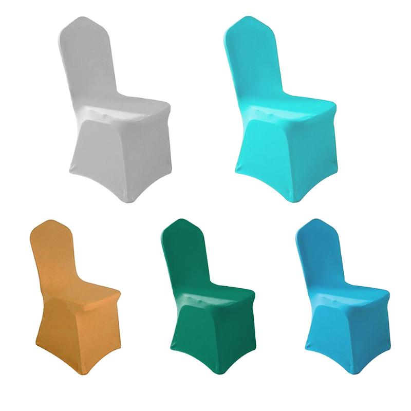 Solid Color Elastic Chair Cover Stretchable Banquet Chair Hotel Wedding Party Seat Covers Decoration Chair Protective Cases