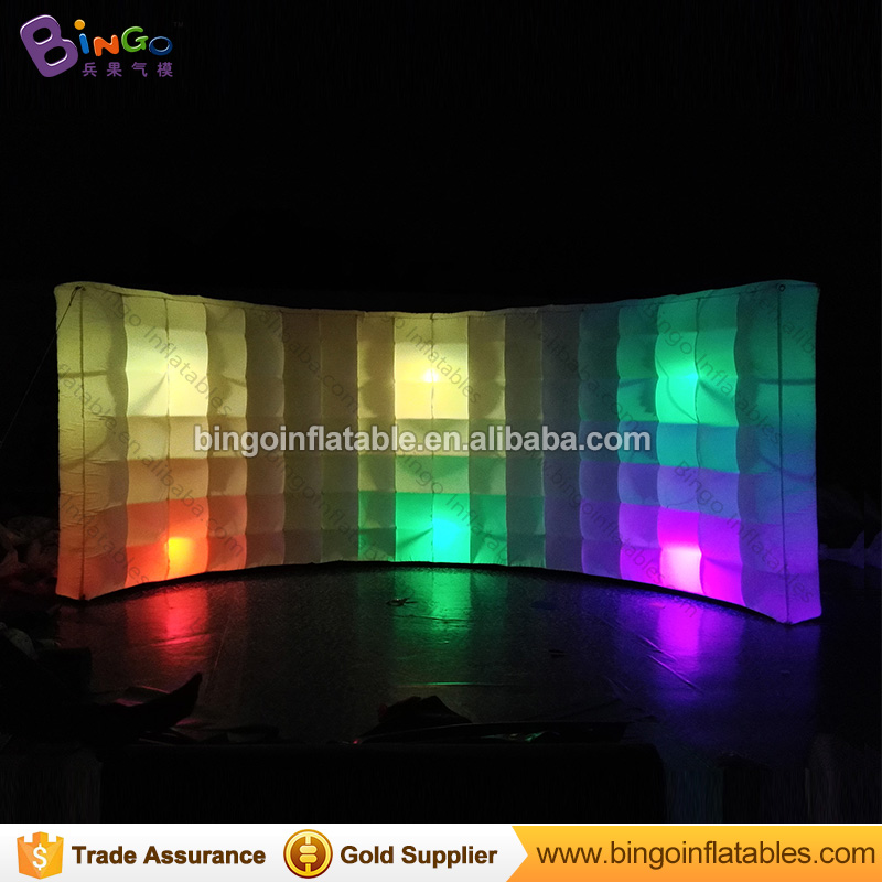 FACTORY OUTLET 4X2X2M inflatable lighting LED wall balloon shelter decoration personalized for useful display advertisingFACTORY OUTLET 4X2X2M inflatable lighting LED wall balloon shelter decoration personalized for useful display advertising