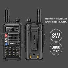 2020 BAOFENG UV S9 8W Potente VHF/UHF136 174Mhz & 400 520Mhz Dual Band 10KM Lungo Raggio addensare batteria Walkie Talkie CB Radio