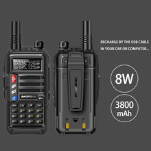 2020 BAOFENG UV S9 8W Powerful VHF/UHF136 174Mhz & 400 520Mhz Dual Band 10KM Long Range Thicken battery Walkie Talkie CB Radio