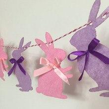 3m bonito coelho coelho bandeira flâmula guirlanda crianças chuveiro do bebê festa de aniversário bunting decoração da páscoa tirar foto ferramentas fotografia