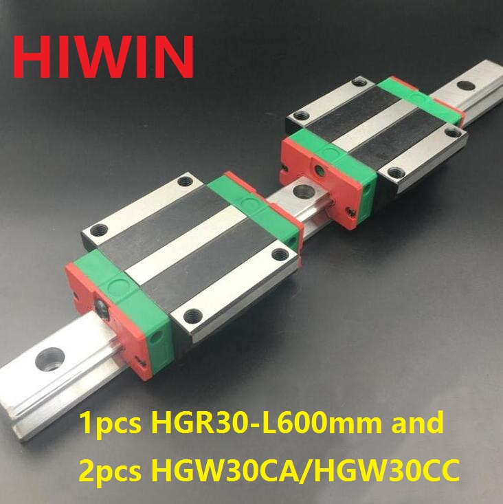 1pcs 100% original Hiwin linear rail HGR30 -L 600mm + 2pcs HGW30CA HGW30CC flanged carriage for cnc router pca 6003 pca 6003ve a2 industrial motherboard tested good board with fan cpu and ram