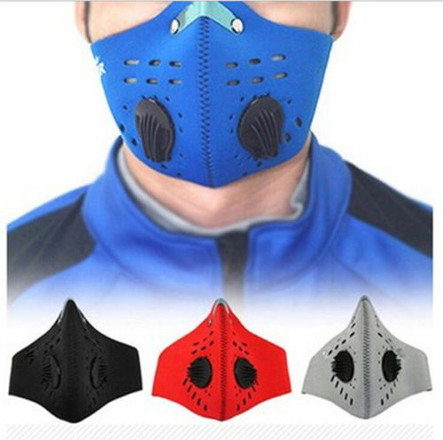 Bike Bicycle Riding PM2.5 Gas Protection Filter Respirator Dust Mask Head outdoor sports bike face mask filter air anti pollution for bicycle riding traveling dustproof mouth muffle