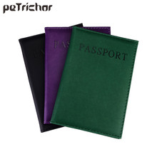 New Fashion PU Card Holder Women Travel Passport Holder Business Passport Cover ID Credit Card Holder