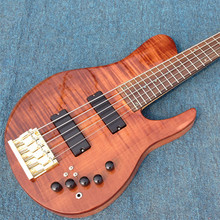 Free shipping Starshine electric guitar  Korean factory ASH body flamed maple top 5 strings the color can choose OEM
