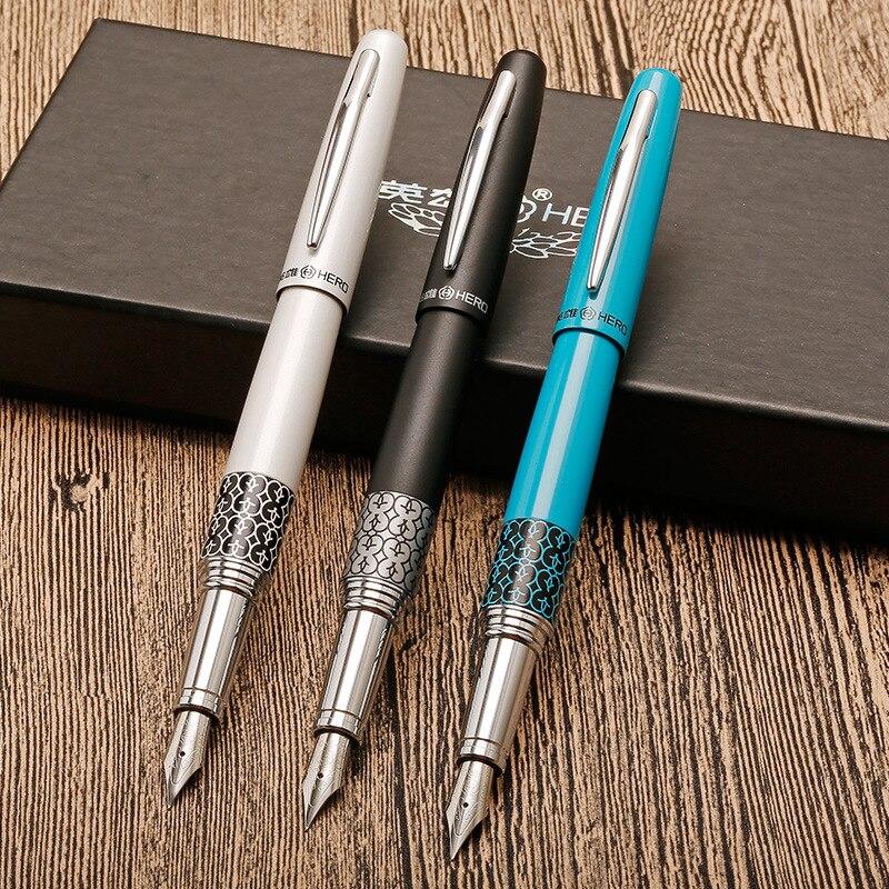 Full metal argento Clip di Iraurita penna Stilografica modello classico di lusso penne dolma kalem Caneta forniture Per Ufficio di Cancelleria 1004