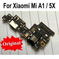 Original para Xiaomi mi A1 mi A1 5X de carga USB puerto del cargador del muelle conector PCB Junta cinta Flex Cable con auriculares de Audio