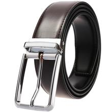 купить Men Quality Cow Leather Belt Luxury Designer Belts Men Cowskin Fashion Waist Strap Male Jeans Belt for Man Cowboy онлайн