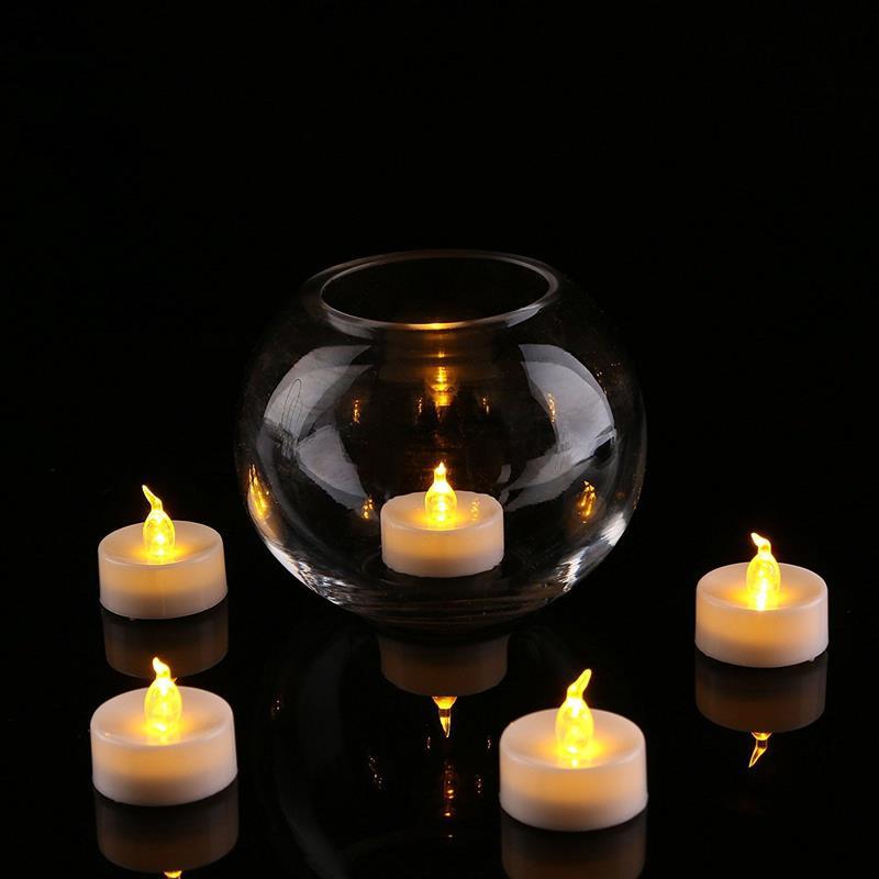 24 pz Led Luce del Tè Batterie Senza Fiamma Flickering LED Candele Bougie Candele Elettriche Per La Casa di Nozze Decorazione Festa di Compleanno