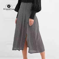 Long Skirts Womens 2018 High Quality Pleated Skirt Luxury Star Printed Skirt Fashion