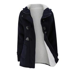 e59d67362e9c qepae Women s Autumn Thick Winter Jacket Female Long Hooded